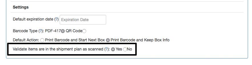Download shipment plan