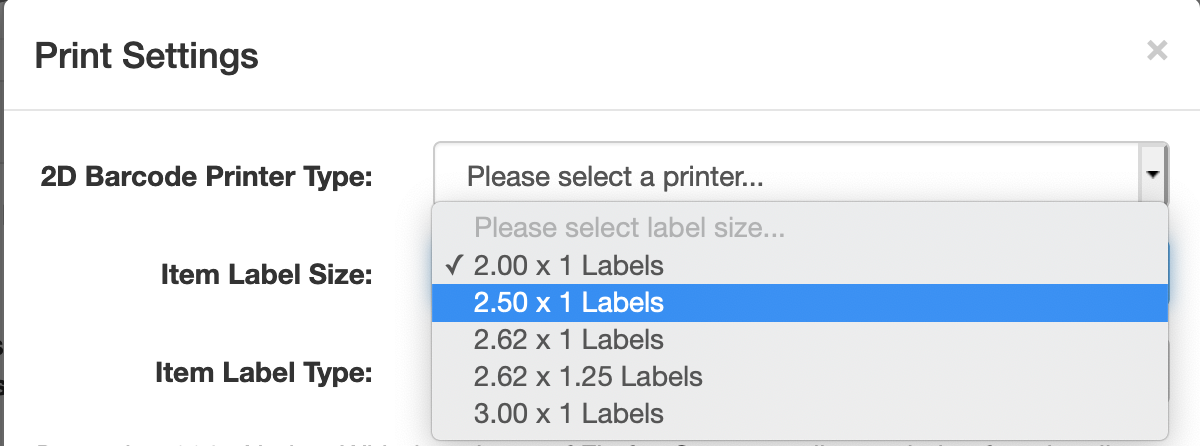 FNSKU Label printer settings